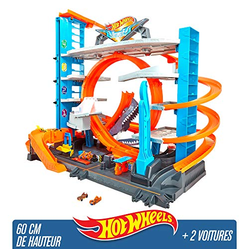 Hot Wheels City Garage Ultime, coffret de jeu pour...