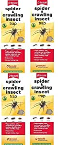 4 x Rentokil 3 Pack Spider & Crawling Insect Beetle Ants Cockroaches Trap