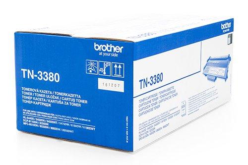 Preisvergleich Produktbild Original Toner TN3380 für Brother DCP-8250DN MFC-8520DN HL-5440D 5450DN 5450DNT 5470DW 6180DW - TN-3380 Tonerpatrone Bulk / Neutrale Verpackung - Intuiflex