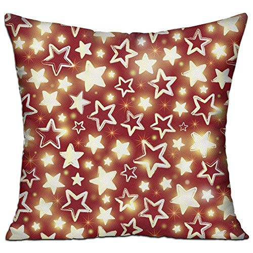 No Soy Como Tu Kissenbezüge USA Red Shining Stars,Pillow Covers Decorative Pillowcase Cushion Covers with Zipper 18x18 ()