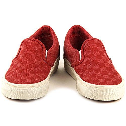 r Rot Red Check/White 38.5 EU (Vans Slip-ons, Kinder)