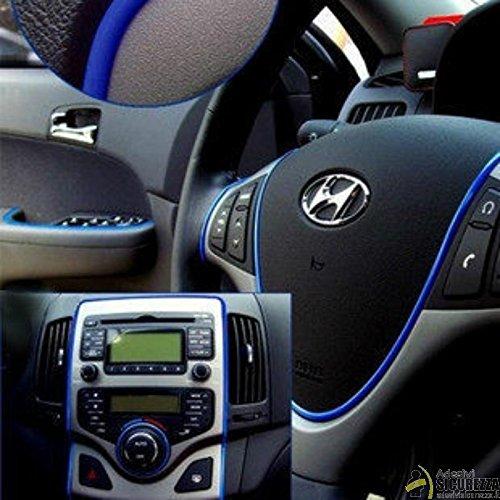 StickersLab - Stripe Adesivo in vari colori per decorazione interni/esterni auto - Blu