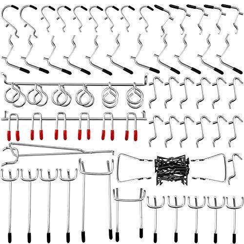 Stecktafel-Haken-Sortiment, 54 Stück Stecktafel-Haken, Organizer-Set, Zubehör-Set mit 20 Klammer-Schlössern