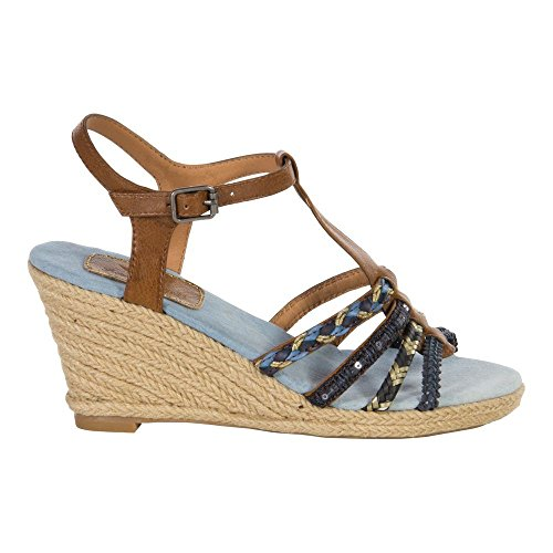Fritzi aus Preußen Wedg 05 S1675401 sandale in blau Schuhe , Size:38 EU