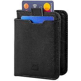 Mercor Portafoglio Uomo Piccolo Porta Carte di Credito RFID | Porta Tessere Sottile in Pelle Premium Schermato (Black…