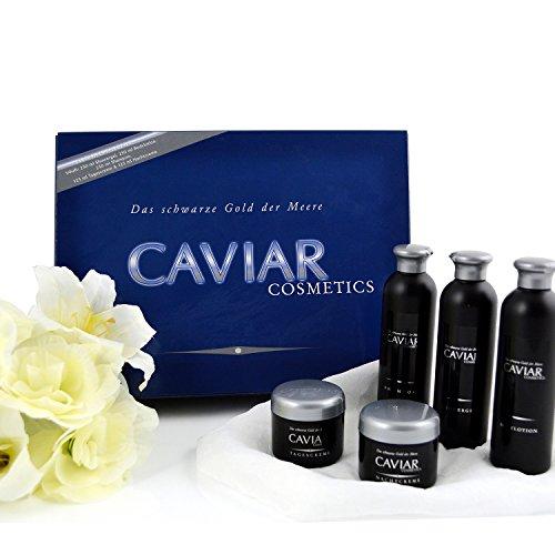 Creme Caviar Pflege Set 5 tlg. Pflegeprodukte Wellness Beauty Geschenk Box