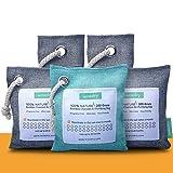 wisedry 5packs Bamboo Charcoal Air Purifying Bag Air Purifier/Freshener Eco Friendly 100% Natural