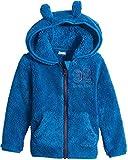 lupilu® Kinder Jungen Teddy Fleece Jacke, mit Kapuze (Blau, Gr. 98/104)