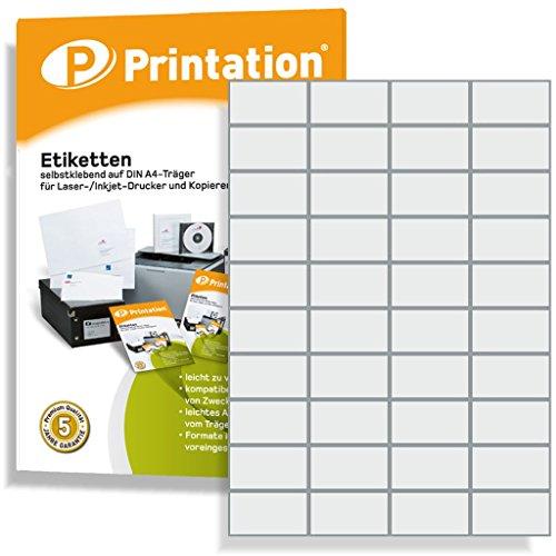 Etiketten für Kennzeichnungen - 52,5 x 29,7 mm selbstklebend weiß bedruckbar - 4000 Stk auf 100 A4 Bogen à 4x10 Aufkleber - 4461 LA111 3651