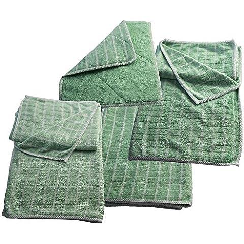 muxels Juego de vajilla y secar Toalla de bambú 4piezas, la vajilla de paño extra muy suave y absorbente