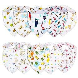 Ghb Bandana Dribble Bibs For Babies & Toddler 10-pack