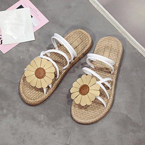 Sandali Bianco Piatti 39 Sneaker Avevano Donna 35 Infradito 5vfaaq