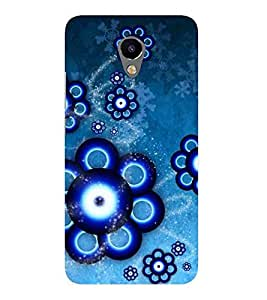For Meizu M2 :: Meizu M 2 floral background ( floral background, abstract background, blue pattern ) Printed Designer Back Case Cover By FashionCops