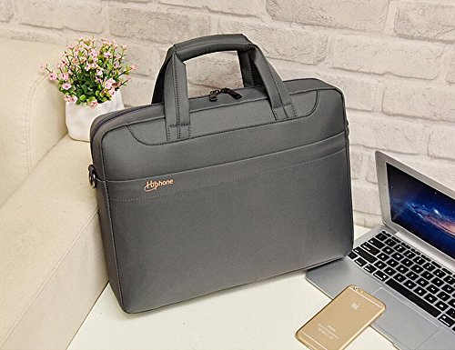 Laptop Aktentasche Aktentasche wasserdicht Oxford-Schulter-Beutel-Laptop-Tasche Business Case Tablet-Umhängetasche für 15 bis 15,6 Zoll Ultrabook / Lenovo / Dell / HP / MacBook Grau
