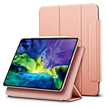 ESR Rebound Magnetic Smart Case for iPad Pro 11 2020 & 2018,Convenient Magnetic Attachment,Auto Sleep/Wake Trifold Stand Case,Rose Gold