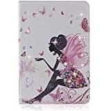 iPad 4 / 3 / 2 Cover, Bling Rhinestone PU Leather Smart Case with Auto Sleep / Wake for Apple iPad 2/ 3/ 4 + 1 Free Stylus Touch Pen + 1 Free Screen Protector + 1 Free Cleaning Cloth (iPad 2/ 3/ 4)