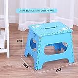 Thick Plastic Folding Kleine Bank Portable Kreative Tragbare Hocker Kindersitz Home Adult Hocker ( Farbe : Blau , größe : L33*W26cm*H27cm )