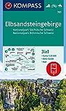 Elbsandsteingebirge, Nationalpark Sächsische Schweiz, Nationalpark Böhmische Schweiz: 3in1 Wanderkarte 1:25000 mit Aktiv Guide inklusive Karte zur ... Reiten. (KOMPASS-Wanderkarten, Band 761)
