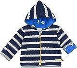 loud + proud Unisex Baby Jacke Ringel, Blau (Midnight/Natural Mi/Na), 92 (Herstellergröße: 86/92)