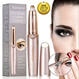 Eyebrow Hair Remover, Eyebrow Trimmer for Women, Electric Eyebrow Trimmer, Painless Eyebrow Trimmer Epilator for Women, Portable Eyebrow Hair Removal Razor with Light, Rose Gold
