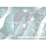 Vlies Fototapete PREMIUM PLUS Wand Foto Tapete Wand Bild Vliestapete - Ornamente Blätter Ranke Schnörkel Tribal - no. 2477, Größe:208x146cm Vlies