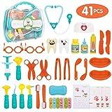Peradix Jeux d'imitation Jouet Docteur 41 PCS Kits Valisette Medecin Outils Médical Cadeau Cas pour Enfants Fille Garçon