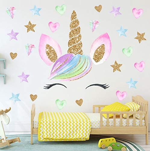 LXHLXN Unicornio Pegatinas Pared decoración habitación