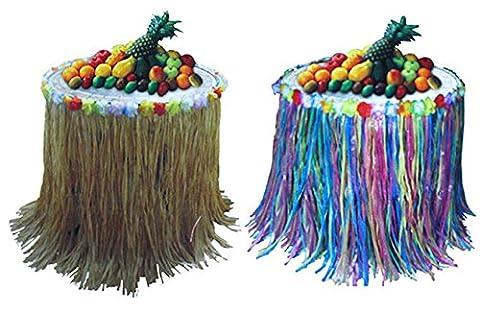 erdbeerparty- Party Dekoration Etagere Hawaii Aloha Hula Rock-Design 2 Stück, Mehrfarbig