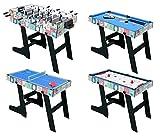 HLC 121.5*61*81.3 CM Zusammenklappbar 4 in 1 multifunkniertes Tischspiel -- Tischfußball/Tischtennis /Air Hockey /Billard-Tisch