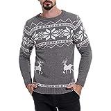 Herren Verdicken Langärmelige Herbst und Winter Silm-fit Mode Sweatershirt(L,dunkelgrau)
