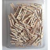 Mini-Holz-Wäscheklammern, Größe: ca. 2,5 cm, ca. 100 St