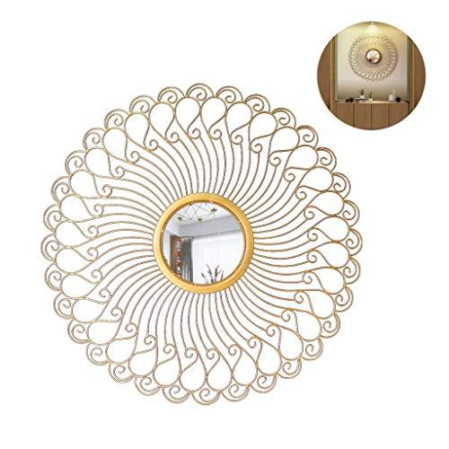 Espejo decorativo Pared redonda moderna Girasol Chimenea Restaurante Porche decorativo Arte de...