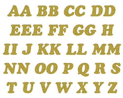 Dorés à Repasser Paillettes Lettres Paquet de 40 Lettres