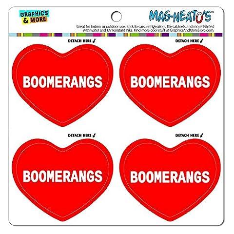 mag-neato' S Panneau de signalisation voiture (TM) aimant de réfrigérateur en vinyle de cœur I love Sports Loisirs/, Boomerangs