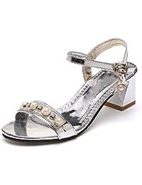 YMFIE Tacchi a spillo lato temperamento in punta stile europeo in pelle scamosciata scarpe singole scarpe da sposa scarpe da lavoro scarpe da banchetto, 37 EU, rosso