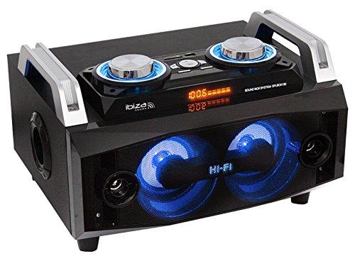 SPLBOX120 Soundsystem mit Bluetooth, SD, USB und LED Effektbeleuchtung (Karte Von Party City)