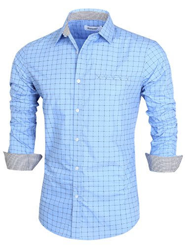 emiqude-mens-casual-slim-fit-long-sleeve-fake-pocket-contrast-plaid-dress-shirts-x-large-blue