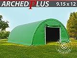 Dancover Rundbogenhalle Lagerzelt Zeltgarage Garagenzelt 9,15x12x4,5m, PVC, Grün