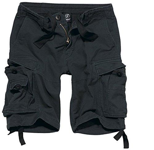 Brandit Vintage Short  Gr:- 6XL, Farbe:-Schwarz (Cargo Slim Shorts)