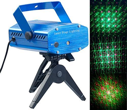 Lunartec Laser Licht: Indoor-Laser-Projektor, Sternenmeer-Effekt, Sound-Steuerung, grün/rot (Lichtorgel)