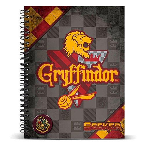 0845214946 KARACTERMANIA, S.L. Notizbuch ringbuch A4 Quidditch Gryffindor - Harry  Potter
