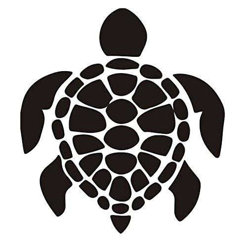 CAOLATOR Wandtattoo Schildkröte Form Kreativ Wandaufkleber Mode-Stil PVC Klebeband Aufkleber Wandsticker schildkröte Für die Wanddekoration Schlafzimmer Kinderzimmer Schwarz(57 * 62cm)