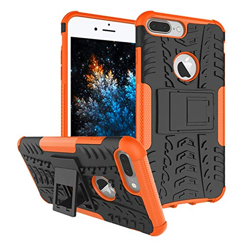 Hülle, Outdoor Hard Cover Heavy Duty Dual Layer Armor Case Stoßfest Schutzhülle mit Ständer Handyhülle für Apple iPhone 6 Plus/iPhone 6S Plus 5.5