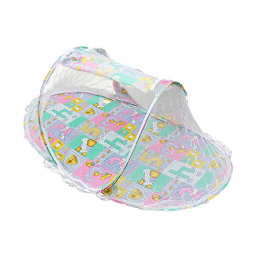 Clode® Sommer Baby Mosquito Mesh Net Krippe Kind tragbar für Reise, Babybett Falten Baby Krippe Moskitonetz (Rosa)