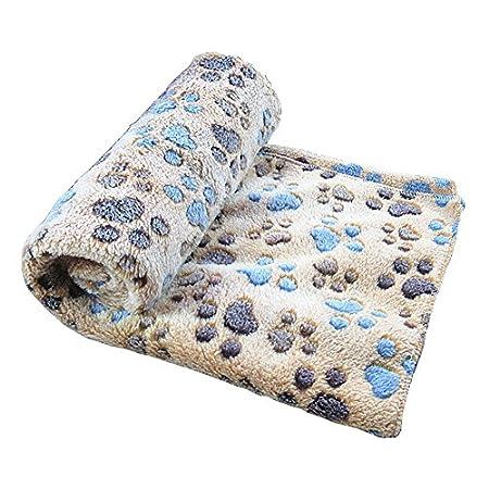 GossipBoy Paw Design Decke Pet Kissen Kleine Hund Katze Bett weiche warme Schlafen Matte Puppy Kitten Weiche Decke Doggy…