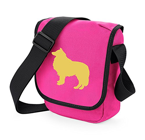 Bag Pixie - Borsa a tracolla unisex adulti Fawn Dog on Pink