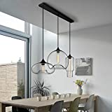 WOF Designer's Light Bar Restaurantbar Kreatives Wohnzimmer Nordic Cafe Persönlichkeit minimalistisch Glas Pendelleuchte (größe : A)