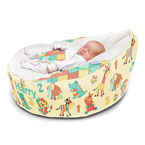 rucomfy Sitzsack Luxury Cuddle Soft Patchwork Tiere Baby GaGa Sitzsack Staubbeutel