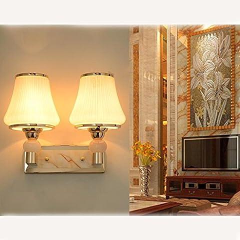 lámpara del dormitorio de la lámpara de cabecera sencilla pared caliente y de invitación luces de la sala de estar de vidrio escaleras balcón pasillo pasillo LED