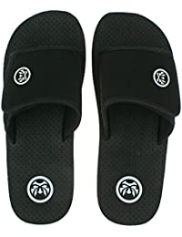 f7ca6cb94de8 Urban Beach Mens ARIA Black FLIP Flops Adjustable Beach Mule Sandals-UK 7  (EU